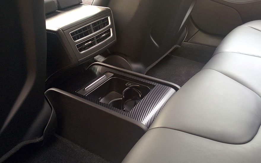 Tesla Rear Console By Avantelle Cup Holders Storage